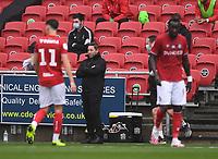 4th July 2020; Ashton Gate Stadium, Bristol, England; English Football League Championship Football, Bristol City versus Cardiff City; Lee Johnson Manager of Bristol City encourages his players