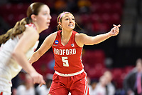 College Park, MD - March 23, 2019: Radford Highlanders guard Jen Falconer (5) during first round action of game between Radford and Maryland at Xfinity Center in College Park, MD. Maryland defeated Radford 73-51. (Photo by Phil Peters/Media Images International)