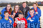 Killorglin rowers who won medals representing Munster in the Irish Provincial Championships in UL on Saturday front row l-r: James McCarthy, Monika Dukarska, Sean houlihan. Back row: Molly O'Grady, Anna Tyther, Mike Fleming Coach and Rhiannon O'Donoghue
