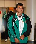Rapid Vienna's Markus Katzer at Glasgow airport