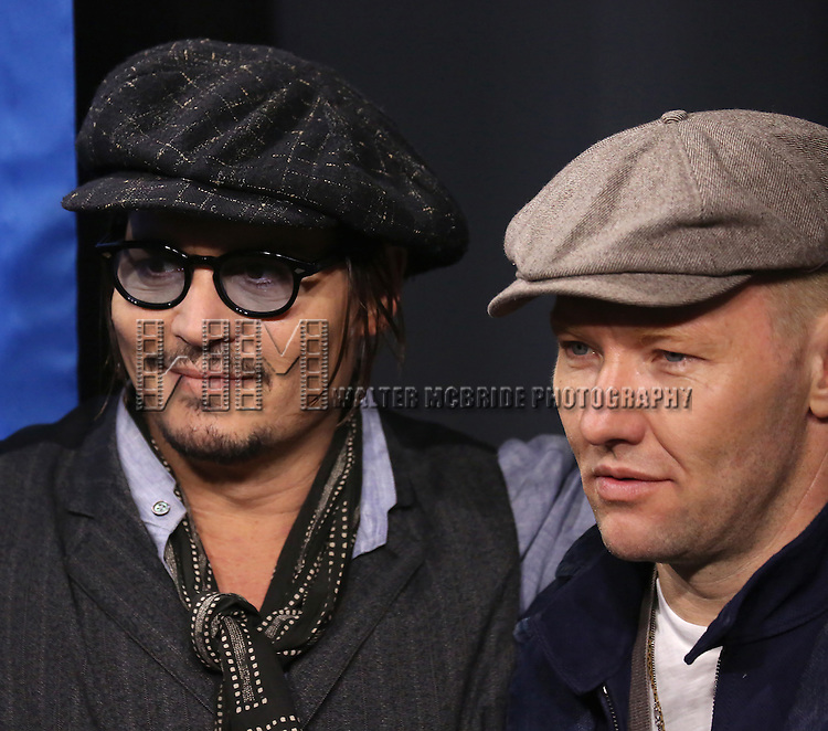 Johnny Depp and Joel Edgerton attends the 'Black Mass' photo call during the 2015 Toronto International Film Festival at Roy Thomson Hall on September 14, 2015 in Toronto, Canada.