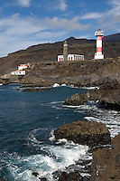 Spain, Canary Islands, La Palma, the southernmost point near Los Canarios Fuencaliente, Punta de Fuencaliente: old and new lighthouse, Faro de Fuencaliente