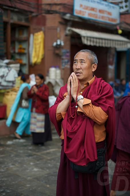 Boudhanath Kathmandu also known as little Tibet, Nepal