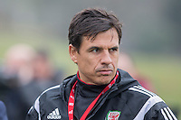Wales manager Chris Coleman during Wales national team training ahead of the International Friendly match and Euro 2016 warm up match against Northern Ireland at Vale Resort, Hensol, Wales on 22 March 2016. Photo by Mark  Hawkins / PRiME Media Images.