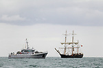 The Arrival of the ships for the Irish Maritime Festival 2018 in Drogheda port.<br />