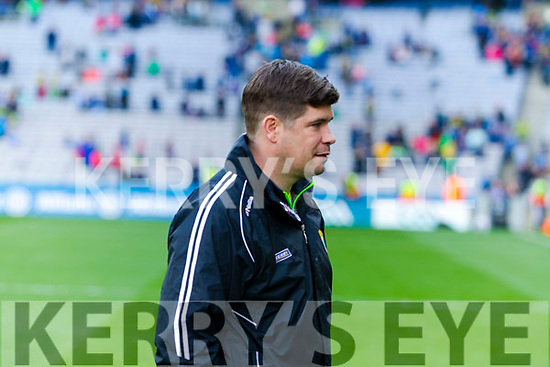 Kerry Manager Eamonn Fitzmaurice defeating Dublin at the National League Final in Croke Park on Sunday.