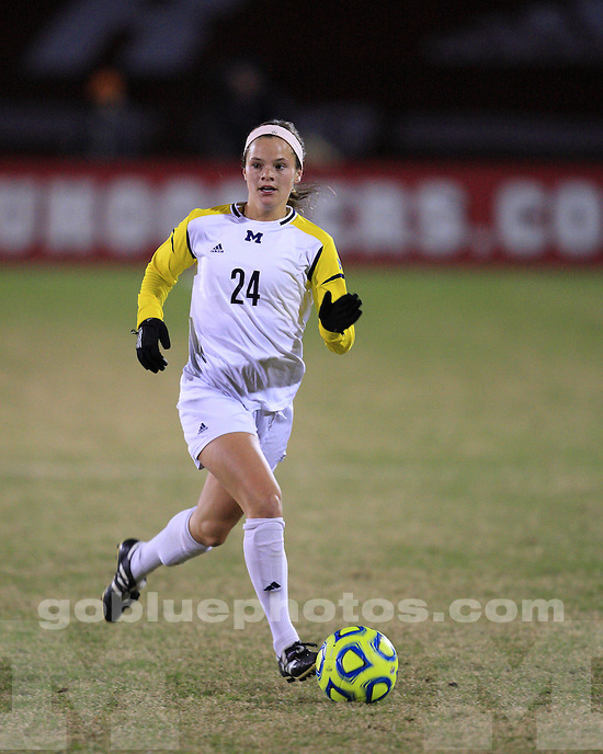 The University of Michigan women's soccer team defeated Wisconsin, 2-0, in their first game of the 2012 Big Ten Tournament in Bloomington, Ind., October 31, 2012.