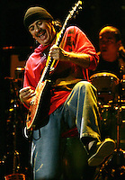 Mexican guitar SANTANA performs during Rock in Rio festival at Bela Vista park in Lisbon, 2 JUNE  2006.