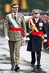 King Felipe VI of Spain attends the National Day military parade. October 12 ,2016. (ALTERPHOTOS/Acero)