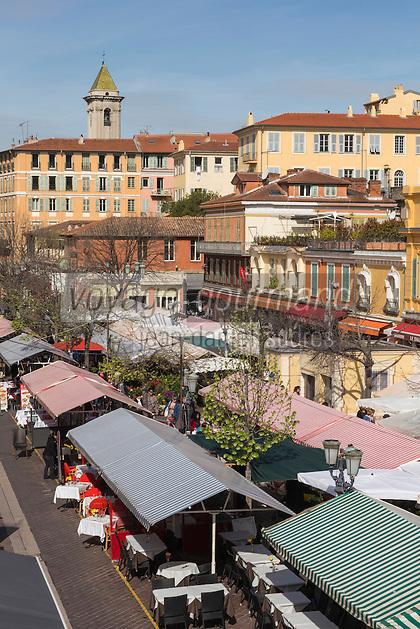 Europe/France/Provence-Alpes-Côte d'Azur/Alpes-Maritimes/Nice:  Marché Cours Saleya //   Europe, France, Provence-Alpes-Côte d'Azur, Alpes-Maritimes, Nice:  Cours Saleya Market
