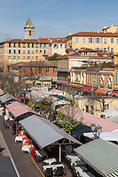 Europe/France/Provence-Alpes-Côte d'Azur/Alpes-Maritimes/Nice:  Marché Cours Saleya //   Europe, France, Provence-Alpes-Côte d'Azur, Alpes-Maritimes, Nice:  Cours Saleya Market