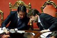 Giuseppe Conte and Dario Franceschini<br /> Rome September 10th 2019. Senate. Discussion and Trust vote at the new Government. <br /> Foto  Samantha Zucchi Insidefoto