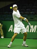 14-02-2005,Rotterdam, ABNAMROWTT , Johansson in actie tegen Beck