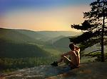 Hillsgrove, PA overlooking Loyalsock Valley. Tony Mack watching sunset.
