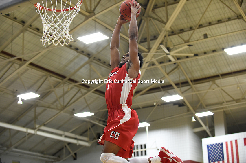 Friday, January 29, 2016: Cornell Big Red guard Darryl Smith (1) dunks the ball during the NCAA basketball game between the Cornell Big Red and the Harvard Crimson held at the Lavietes Pavilion in Boston, Massachusetts. Cornell defeats Harvard 65-77.  Eric Canha/CSM