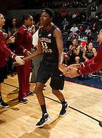 Florida State Seminoles forward Natasha Howard (33) runs onto the court during the game against Virginia Jan. 12, 2012 in Charlottesville, Va.  Virginia defeated Florida State 62-52.