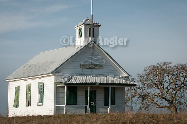 Historic white one-room school house, Salt Spring Valley, Calif.