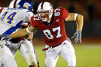 Matt Traverso during Stanford's 63-26 win over San Jose State on September 14, 2002 at Stanford Stadium.<br />