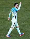 FC Barcelona's Leo Messi celebrates goal during Spanish Kings Cup semifinal 1st leg match. February 01,2017. (ALTERPHOTOS/Acero)
