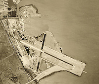 historical aerial photograph San Francisco international airport, SFO, 1946