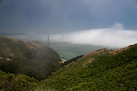 Fog Over the Golden Gate, Marin Headlands, California, US