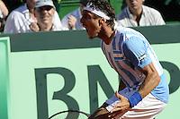 ATENCAO EDITOR: FOTO EMBARGADA PARA VEICULOS INTERNACIONAIS.<br /> BUENOS AIRES, ARGENTINA, 14 SETEMBRO 2012 - COPA DAVIS - ARGENTINA X REPUBLICA TCHECA - O tenista Argentino Juan Monaco durante lance contra o tcheco Tomas Berdych, pela Copa Davis, em Buenos Aires capital da Argentina, nesta sexta-feira, 14. (FOTO: JUANI RONCORONI / BRAZIL PHOTO PRESS).