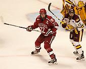Lewis Zerter-Gossage (Harvard - 77), Willie Raskob (UMD - 15) - The University of Minnesota Duluth Bulldogs defeated the Harvard University Crimson 2-1 in their Frozen Four semi-final on April 6, 2017, at the United Center in Chicago, Illinois.