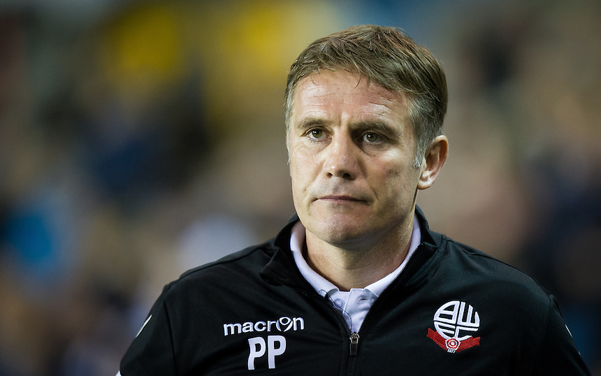 Bolton Wanderers manager Phil Parkinson <br /> <br /> Photographer Ashley Western/CameraSport<br /> <br /> The EFL Sky Bet League One - Millwall v Bolton Wanderers  - Tuesday 18th October 2016 - The Den - London<br /> <br /> World Copyright &copy; 2016 CameraSport. All rights reserved. 43 Linden Ave. Countesthorpe. Leicester. England. LE8 5PG - Tel: +44 (0) 116 277 4147 - admin@camerasport.com - www.camerasport.com