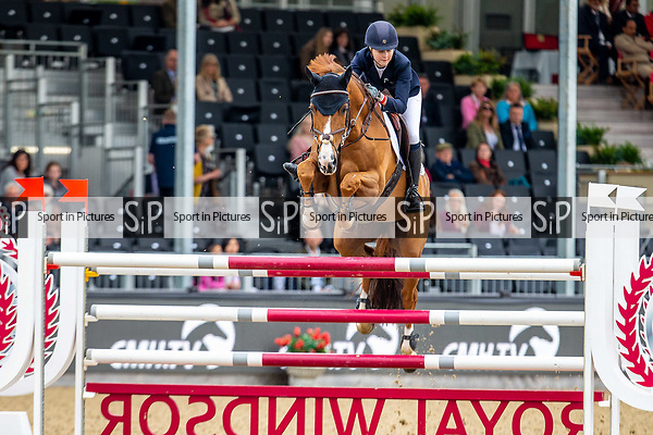 Day 4. Royal Windsor Horse Show. Windsor. Berkshire. UK.  Accumulator 2* Sponsored by ClipMyHorse.  Scarlett Charles riding Quick Stepp. GBR. Winner. GBR.12/05/2018. ~ MANDATORY Credit Elli Birch/Sportinpictures - NO UNAUTHORISED USE - 07837 394578