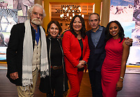 PASADENA, CA - JANUARY 17: (L-R) National Geographic Explores-at-Large Dereck Joubert and Beverly Joubert, SVP, Development & Producer, NG WILD Janet Han Vissering, National Geographic Explorer & Photographer Brian Skerry, and National Geographic Explorer Dr. Rae Wynn-Grant attends the National Geographic 2020 TCA Winter Press Tour Party at the Langham Huntington on January 17, 2020 in Pasadena, California. (Photo by Frank Micelotta/National Geographic/PictureGroup)