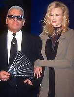 Karl Lagerfeld and Daryl Hannah 1994<br /> Credit:John Barrett/PHOTOlink /MediaPunch<br /> @barrett2003