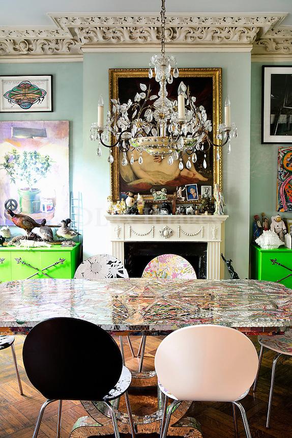 kitschy dining room