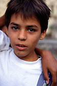 Rio de Janeiro, Brazil. Street children; portrait of a boy at the Sao Martin street children's centre.