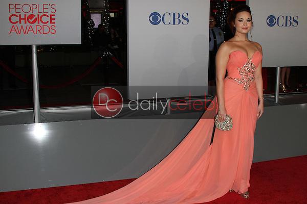 Demi Lovato<br /> at the 2012 People's Choice Awards Arrivals, Nokia Theatre. Los Angeles, CA 01-11-12<br /> David Edwards/DailyCeleb.com 818-249-4998