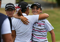 Silvia Brunotti of North Harbour celebrates. Day One of the Toro Interprovincial Women's Championship, Sherwood Golf Club, Whangarei,  New Zealand. Thursday 7 December 2017. Photo: Simon Watts/www.bwmedia.co.nz