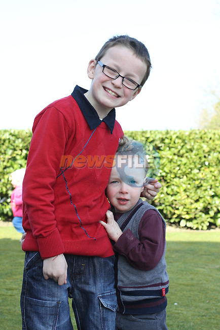 Evan and Tadgh O'Connor at Tullyallen NS. Confirmation...(Photo credit should read Jenny Matthews www.newsfile.ie)....This Picture has been sent you under the conditions enclosed by:.Newsfile Ltd..The Studio,.Millmount Abbey,.Drogheda,.Co Meath..Ireland..Tel: +353(0)41-9871240.Fax: +353(0)41-9871260.GSM: +353(0)86-2500958.email: pictures@newsfile.ie.www.newsfile.ie.