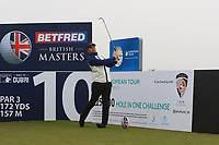 Sam Horsfield (ENG) and on the 10th tee during the Pro-Am of the Betfred British Masters 2019 at Hillside Golf Club, Southport, Lancashire, England. 08/05/19<br /> <br /> Picture: Thos Caffrey / Golffile<br /> <br /> All photos usage must carry mandatory copyright credit (&copy; Golffile | Thos Caffrey)