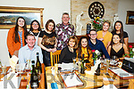 Sarah Kelly from Tralee celebrating her 21st birthday in Bella Bia on Friday night. <br /> Seated l to r: Jakes, Caroline, Sarah and Paddy Kelly and Ashley Murphy.<br /> Back l to r: Nell O&rsquo;Connor, Aoife Falvey, Veronica and Willie Kelly, Megan Flynn and Amy Wharton.