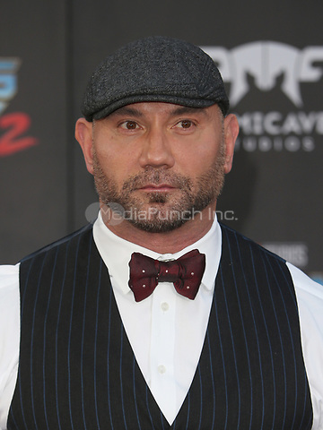 "HOLLYWOOD, CA - April 19: Dave Bautista, At Premiere Of Disney And Marvel's ""Guardians Of The Galaxy Vol. 2"" At The Dolby Theatre  In California on April 19, 2017. Credit: FS/MediaPunch"