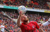 Jonathan Williams of Charlton Athletic balances the ball on his head during Charlton Athletic vs Middlesbrough, Sky Bet EFL Championship Football at The Valley on 7th March 2020