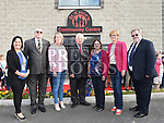 Cllr Dolores Minogue and Mairead McGuinness MEP with Louth Leader Partnership members Finan McCoy, Mary O'Neill, Benny Devlin, Mary Ann McGlynn and Frank O'Brien at the official opening of St. Kevin's Community Centre in Phillipstown. Photo:Colin Bell/pressphotos.ie