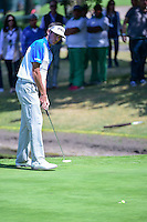Bubba Watson (USA) sinks his putt on 6 during round 2 of the World Golf Championships, Mexico, Club De Golf Chapultepec, Mexico City, Mexico. 3/3/2017.<br /> Picture: Golffile | Ken Murray<br /> <br /> <br /> All photo usage must carry mandatory copyright credit (&copy; Golffile | Ken Murray)
