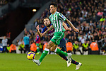 Jordi Alba Ramos of FC Barcelona (L) competes for the ball with Cristian Tello Herrera of Real Betis during the La Liga 2018-19 match between FC Barcelona and Real Betis at Camp Nou, on November 11 2018 in Barcelona, Spain. Photo by Vicens Gimenez / Power Sport Images