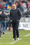 10.03.2018, HDI Arena, Hannover, GER, 1.FBL, Hannover 96 vs FC Augsburg<br /> <br /> im Bild<br /> Andre / Andr&eacute; Breitenreiter (Trainer Hannover 96) bedient / entt&auml;uscht / enttaeuscht in Coachingzone / an Seitenlinie, <br /> <br /> Foto &copy; nordphoto / Ewert