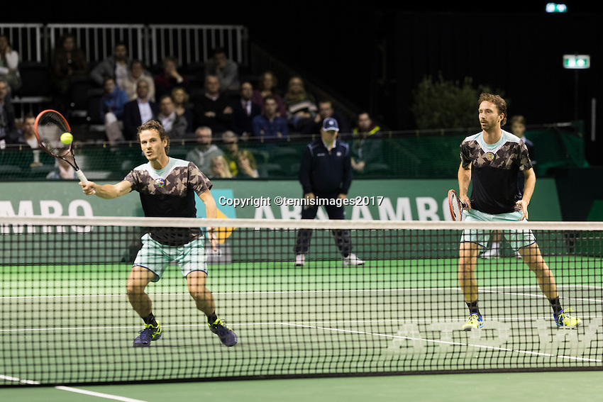 ABN AMRO World Tennis Tournament, Rotterdam, The Netherlands, 14 februari, 2017, Matwe Middelkoop (NED), Wesley Koolhof (NED)<br /> Photo: Henk Koster