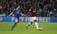 West Ham United's Arthur Masuaku and Cardiff City's Harry Arter<br /> <br /> Photographer Rob Newell/CameraSport<br /> <br /> The Premier League - West Ham United v Cardiff City - Tuesday 4th December 2018 - London Stadium - London<br /> <br /> World Copyright © 2018 CameraSport. All rights reserved. 43 Linden Ave. Countesthorpe. Leicester. England. LE8 5PG - Tel: +44 (0) 116 277 4147 - admin@camerasport.com - www.camerasport.com