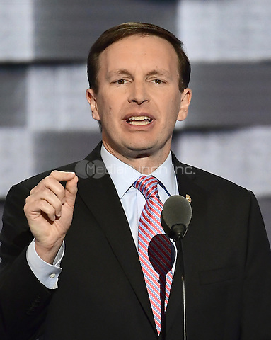 United States Senator Chris Murphy (Democrat of Connecticut) makes remarks during the third session of the 2016 Democratic National Convention at the Wells Fargo Center in Philadelphia, Pennsylvania on Wednesday, July 27, 2016.<br /> Credit: Ron Sachs / CNP/MediaPunch<br /> (RESTRICTION: NO New York or New Jersey Newspapers or newspapers within a 75 mile radius of New York City)
