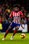 Thomas Teye Partey of Atletico de Madrid in action during the La Liga 2018-19 match between Atletico de Madrid and Athletic de Bilbao at Wanda Metropolitano, on November 10 2018 in Madrid, Spain. Photo by Diego Gouto / Power Sport Images