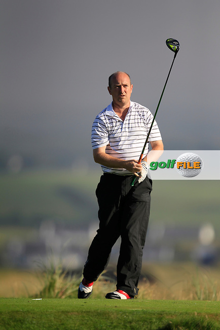 Joe Lyons (Galway) on the 2nd tee during the South of Ireland Amateur Open Championship Second Round at Lehinch Golf Club  28th July 2013 <br /> Picture:  Thos Caffrey / www.golffile.ie