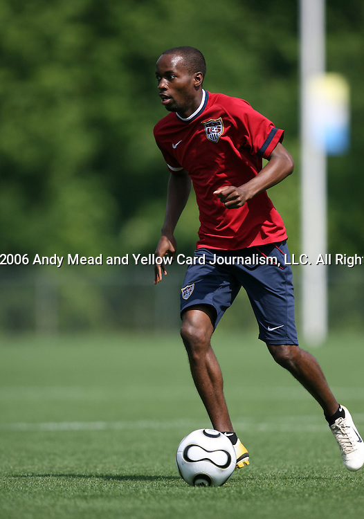 DaMarcus Beasley on Sunday, May 14th, 2006 at SAS Soccer Park in Cary, North Carolina. The United States Men's National Soccer Team held a training session as part of their preparations for the upcoming 2006 FIFA World Cup Finals being held in Germany.